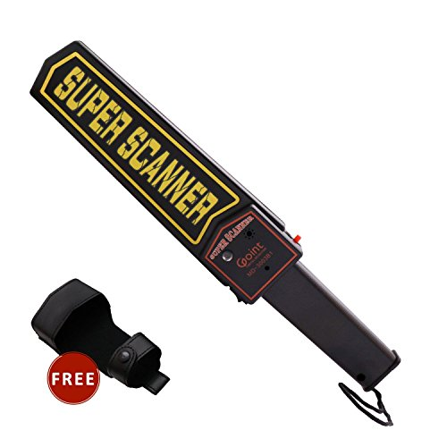 Lintat Adjustable Sensitivity Portable Handheld Metal Detector Security Scanner Wand With Belt Holster, Optional Sound & Vibration Modes by Lintat