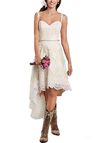 Full Skirt Lace Wedding Dress - 6