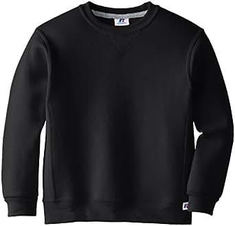 Russell Athletic Big Boys' Fleece Crew, Black, Small