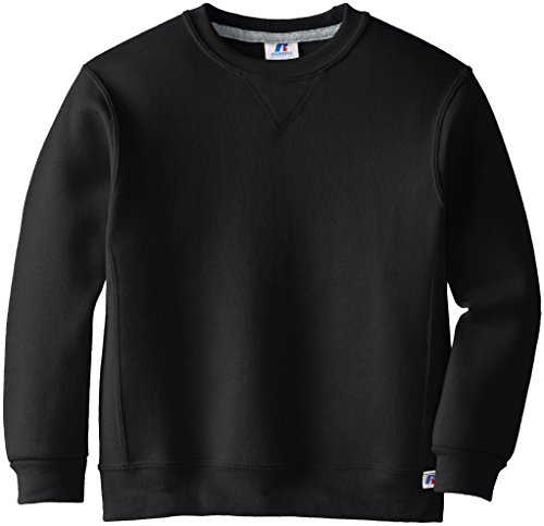Russell Athletic Big Boys' Fleece Crew, Black, Large