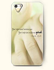 For Samsung Galaxy S5 Mini Case Cover Hard shell With Design Your Right Hand Sustains Me Your Help Has Made Me Great Psalm 18:35- Bible Verses - Case For Samsung Galaxy S5 Mini Case Cover