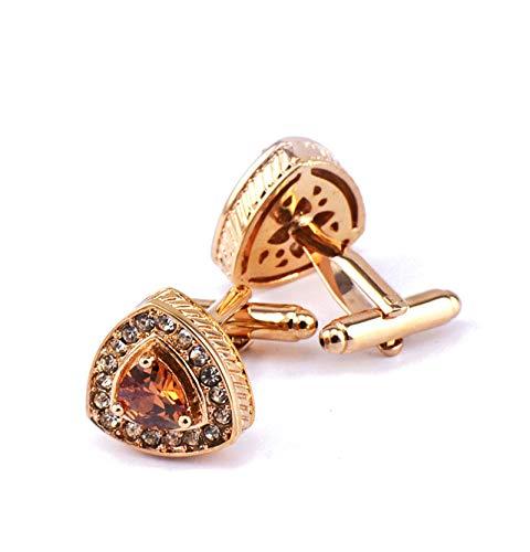 Adisaer Cufflinks Rose Gold Copper Crystal Men Cufflink Unique Business Wedding