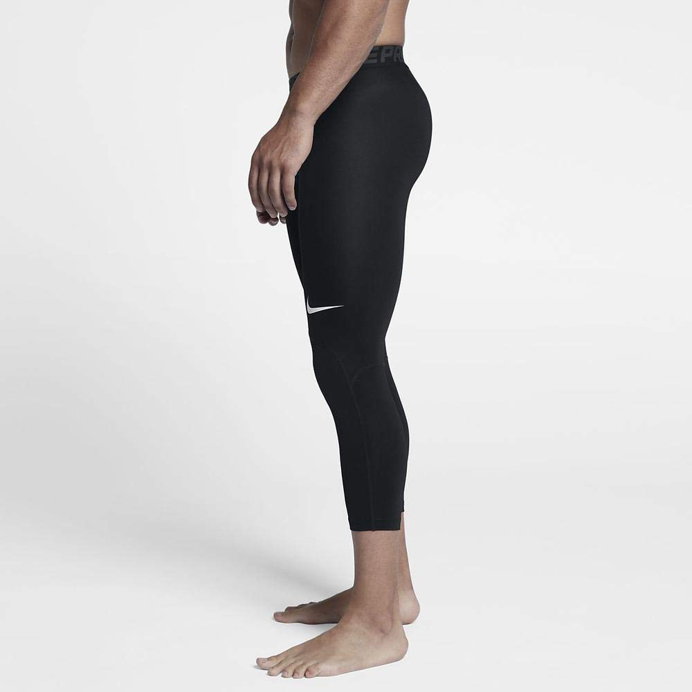 Nike Men's Pro 3qt Tight (Black/Anthracite/White, Small) by Nike (Image #5)