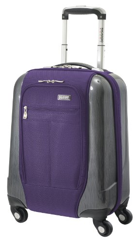Ricardo Beverly Hills Luggage Crystal City 17 Inch Spinner Universal Carry-on Bag, Imperial Purple, Small