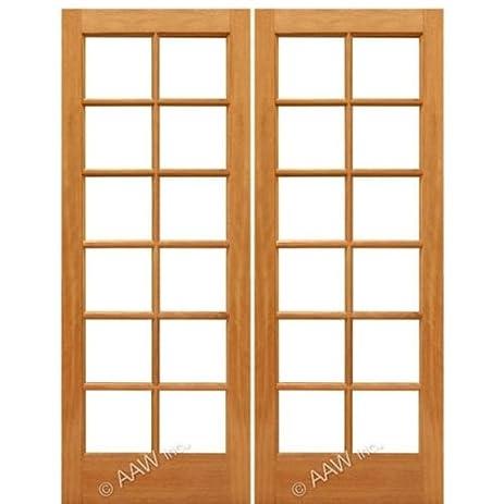 French Door Mahogany 12-Lite Ext-2 - AAW Doors Inc.