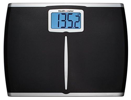 Health-o-Meter Glass Body Fat Scale Clear w/ Black Frame (Renewed) (Health O Meter Glass Weight Tracking Digital Scale)