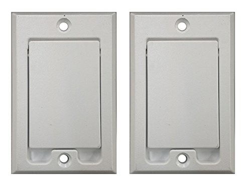 (2) Central Vacuum Square Door Inlet Wall Plate White for Nutone Beam VacuFlow (Inlets Vac Standard)