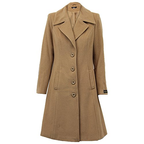 Ladies Wool Cashmere Coat Womens Jacket Outerwear Trench Overcoat Winter Lined Camel - Wolp0335
