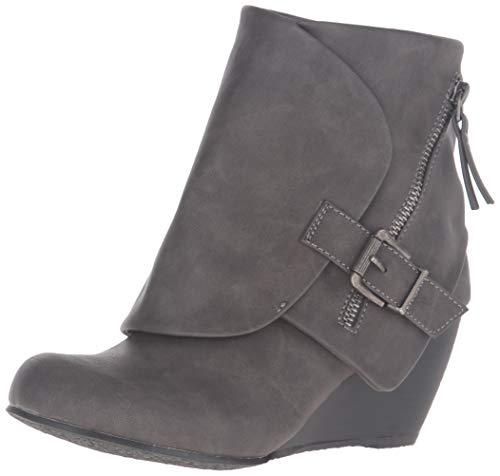 Blowfish Women's Bilocate Ankle Boot, Grey Texas Polyurethane, 11 M US