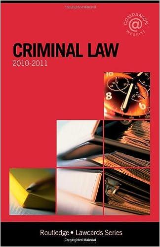 Criminal Lawcards 2010-2011