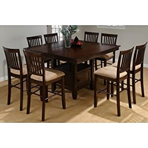 Counter Height Dining Table W Butterfly Leaf U0026 Storage Base