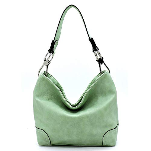 - Vegan Faux Leather Bucket Shoulder Handbag Classic Purse