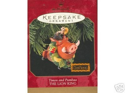1 X Timon And Pumbaa The Lion King 1997 Hallmark Keepsake ornament QXD4065 by Hallmark