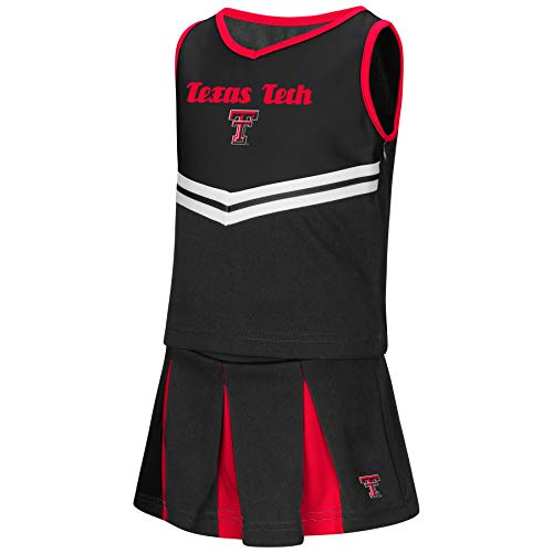 Texas Tech Baby Gear - Colosseum NCAA Toddler-Girls Team Cheer Set-Texas Tech Red Raiders-3T