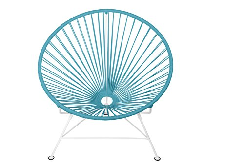 Innit Designs Innit Chair, Blue Weave on White Frame