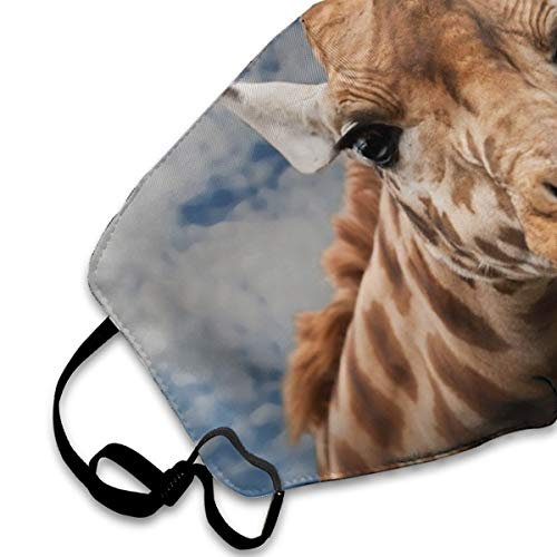 NOT Giraffe-Animal-Funny-Facial.jpg Personality Lovely Unisex Dust Mask, Suitable for Young Men and Women, Ski Bike Camping Windproof Motorcycle Face Mask