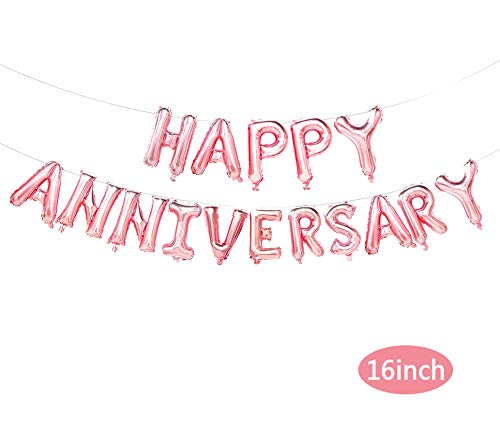 Happy Anniversary Balloons Banner, Anniversary Party Decoration, Party Supplies, Wedding Anniversary Party