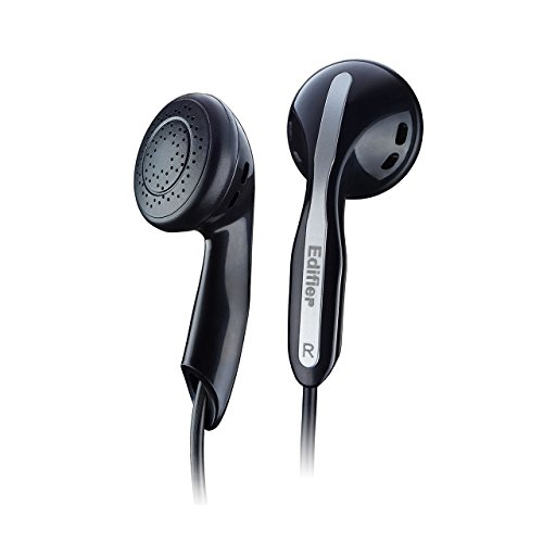 Edifier H180 Earphones in-Ear Earbuds Hi-Fi Stereo Headphones for iPhone iPad iPod Samsung Galaxy and More Android Smartphones Compatible with 3.5 mm Headphone Earpods Black