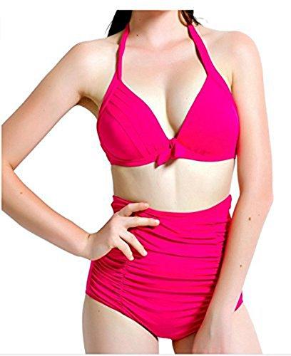 Para mujer Diseño de flores y Hot diseño de lunares de natación para el botón de antigua de Bikini de succión con sus bañadores para que los bañadores de #17