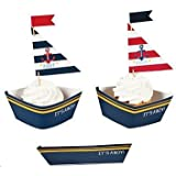 Nautical - Baby Shower - Picks and Cupcake Wrappers - Set of 12