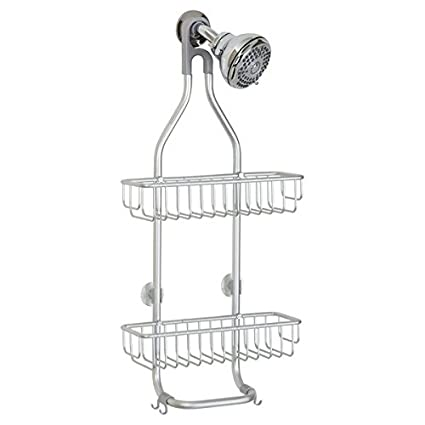 InterDesign Metro Rustproof Aluminum Shower Caddy U2013 Bathroom Storage  Shelves For Shampoo, Conditioner And Soap