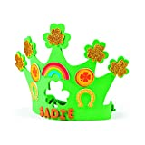 Fun Express St. Patrick's Day Shamrock Crown Craft Kit-Makes 12 Crowns-Classroom Activities, Party Favors, Seasonal Decor