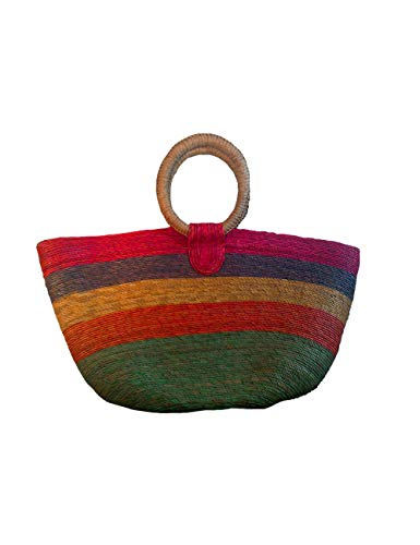 - Lytio Mexican Handmade Purse Handbag Made with Woven Straw Natural Palm Leaf 100% Ecological (Multi)
