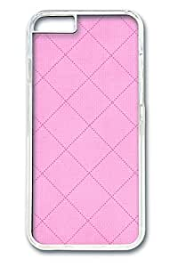 iphone 6 4.7inch Case and Cover Pink Plaid PC case Cover for iphone 6 4.7inch transparent