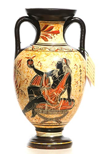 Greek Jar - Greek Ceramic Amphora Jar Vase Pot Vessel Painting Goddess Aphrodite 8.66΄΄