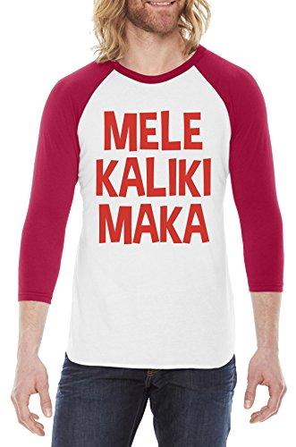 Shirts Hawaiian Crazy - Mele Kalikimaka Raglan Shirt Cool Christmas Shirt Hawaiian Xmas Tee M