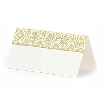 Tischkarten Weiß Mit Ornamenten Platzkarten Hochzeit Familienfeier Goldene Ornamente