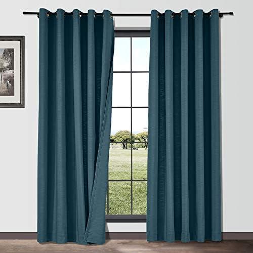 ChadMade Linen Blend Texture Curtain Grommet Drape 150 Wide