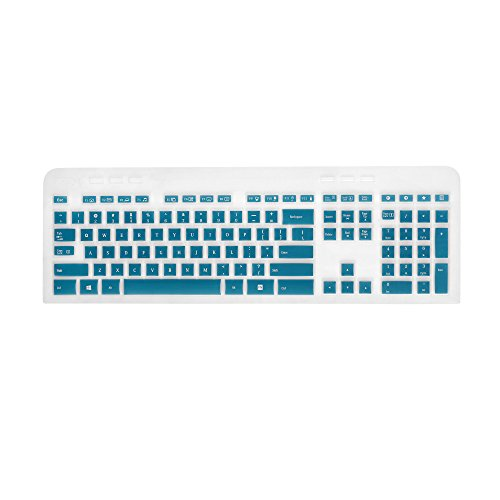 Cosmos Aqua Blue Premium Silicone Keyboard Cover Skin Case Protector for Logitech Wireless Keyboard Mk520 (Premium Cover Skin Silicone Case)