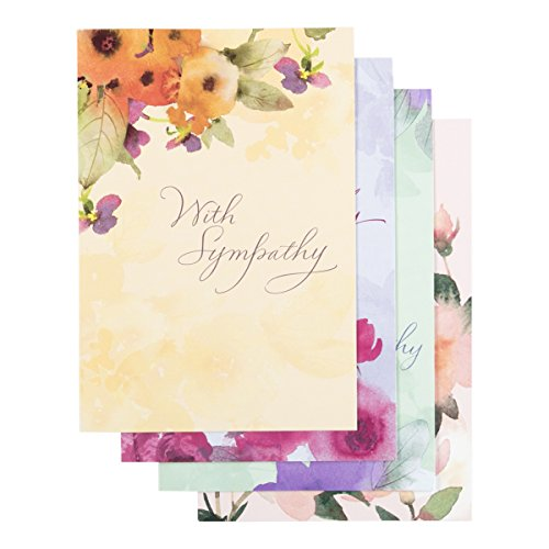 Sympathy - Inspirational Boxed Cards - Watercolor Flowers