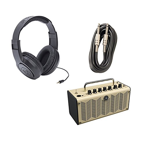 (Yamaha THR5 Desktop Guitar Combo Amplifier with Samson SR350 Headphones and Axcessables IC-10 Instrument Cable)