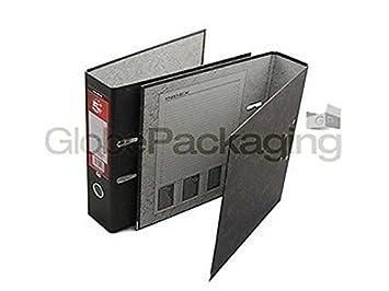 100 x archivadores de palanca carpetas nube negro: Amazon.es: Oficina y papelería