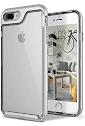 iPhone 7 Plus Case, Caseology [Skyfall Series] Transparent Clear Enhanced Grip [Silver] [Slim Cushion] for Apple iPhone 7 Plus (2016)