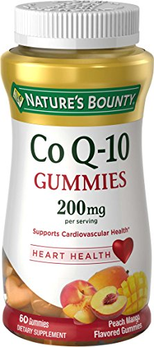 - Nature's Bounty CoQ-10 Gummies 200 mg, Peach Mango Flavored 60 ea