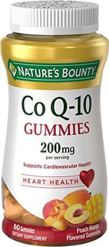 Nature's Bounty CoQ-10 Gummies, Heart Health, 200 mg, Peach Mango Flavored, 60 ea