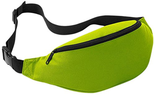 Wantdo Sports Belts For all the Mobile Phone Adjustable Waist pack Running Belts(Fluorescent Green,2.5L)