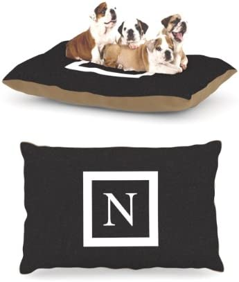 Kess InHouse Solid Black Fleece Dog Bed