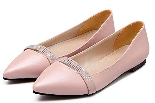 Rose Chaussure Ballerines Confortable Femme Talon Plat Pointue Easemax Basse Eq8AE