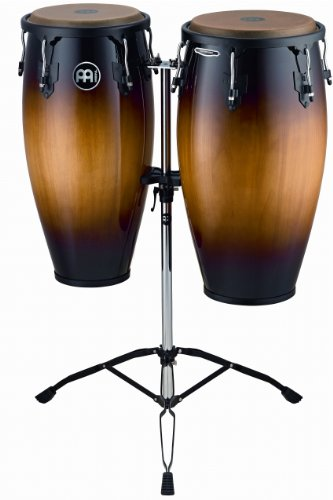 Series Wood Conga Set (Meinl Percussion HC812VSB Headliner Series 11-Inch and 12-Inch Conga Set With Tripod Stand, Vintage Sunburst)