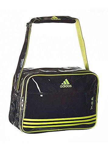 6ea25d8cc5 adidas - Borsa a Tracolla Shiny Sports Bag PU TKD, Nero/Giallo ...