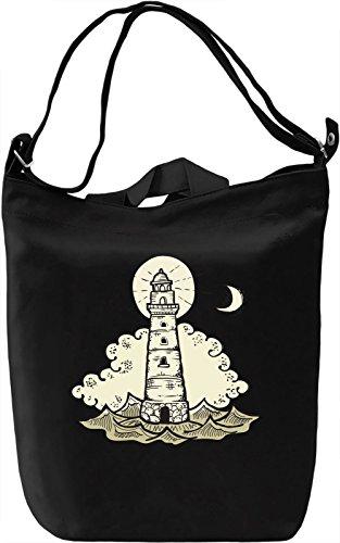 Lighthouse Borsa Giornaliera Canvas Canvas Day Bag  100% Premium Cotton Canvas  DTG Printing 