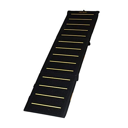Pet Gear Tri-Fold Ramp 71 Inch Long Extra Wide Portable Pet Ramp for Dogs/Cats up to 200lbs,...