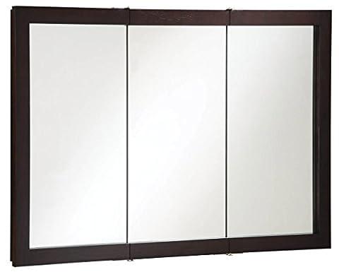 Design House 541367 Ventura Tri-View Medicine Cabinet, Espresso, 48-Inch by 30-Inch - Glaze Wood Cabinets