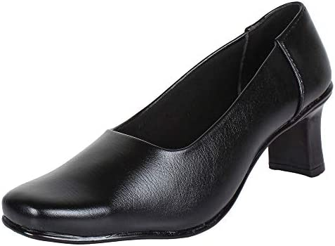 AUTHENTIC VOGUE Women's Formal/Office Shoes in Black Colour – 2 Inch Heel