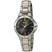Seiko Women's Quartz Stainless Steel Casual Watch, Color:Two Tone (Model: SUT316)