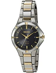 Seiko Womens Quartz Stainless Steel Casual Watch, Color:Two Tone (Model: SUT316)